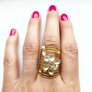 Whimsical & dainty dragonfly gold strand ring